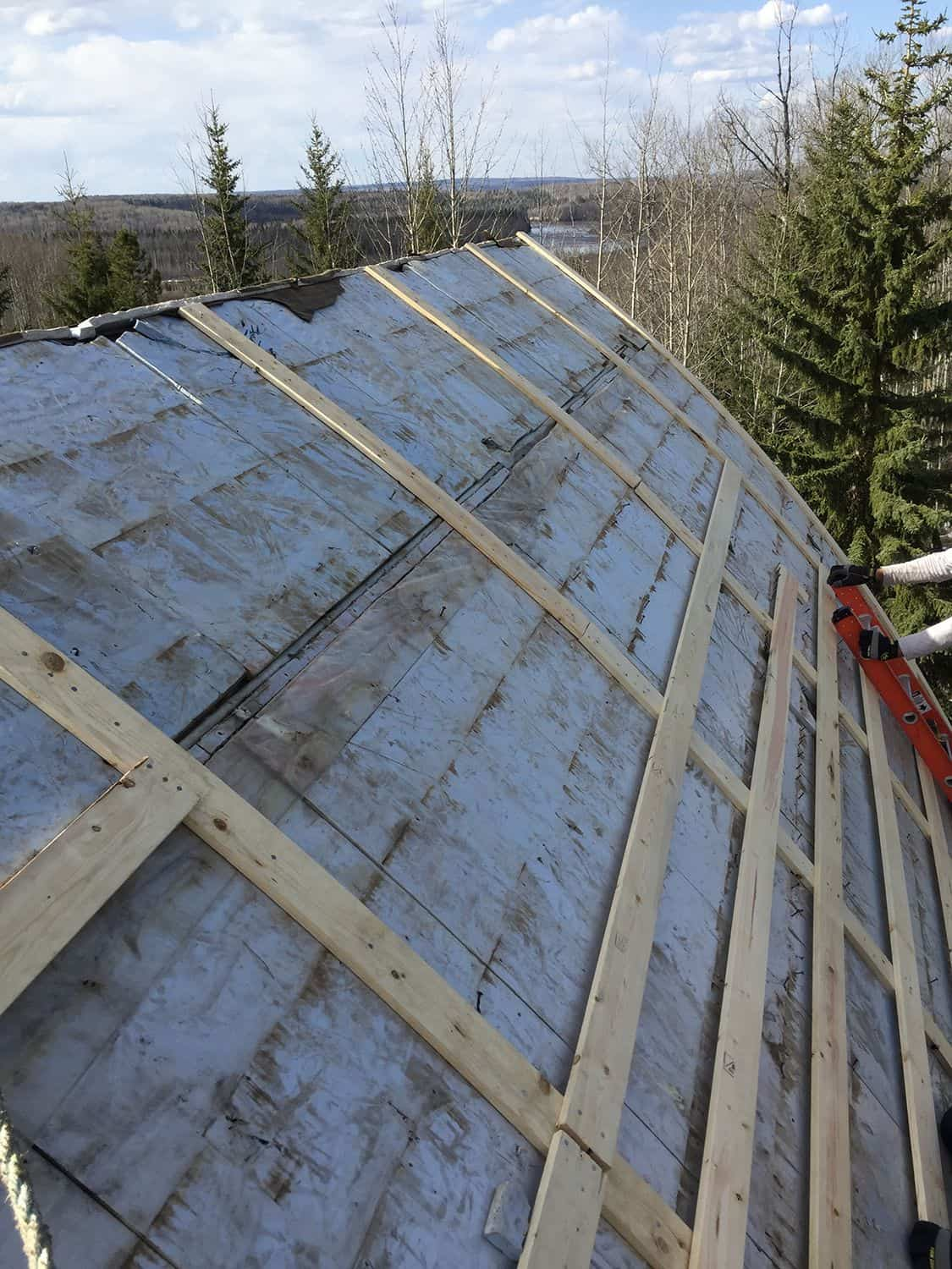 Whitecourt AB Canada Roof Arch Rib Roof Installation