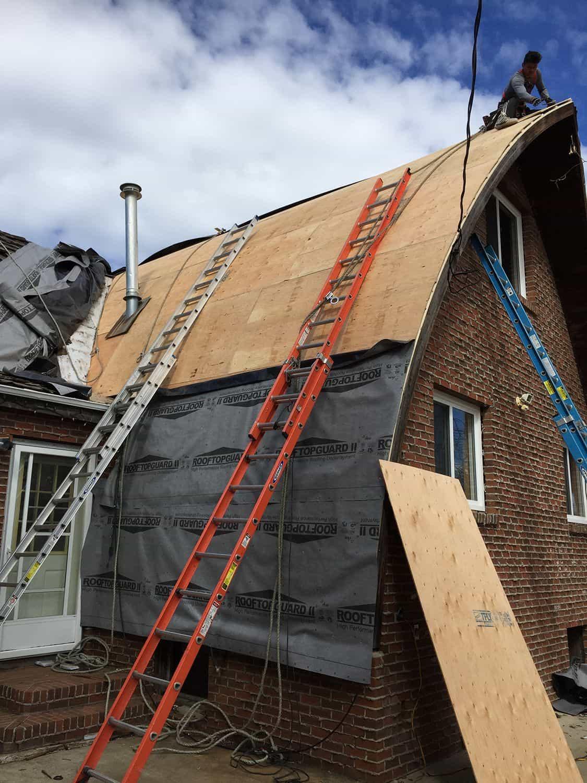 Whitecourt AB Canada Roof Arch Rib Roof Installation