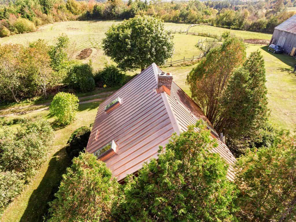 Interlock Copper Standing Seam Roof Panels Farmhouse