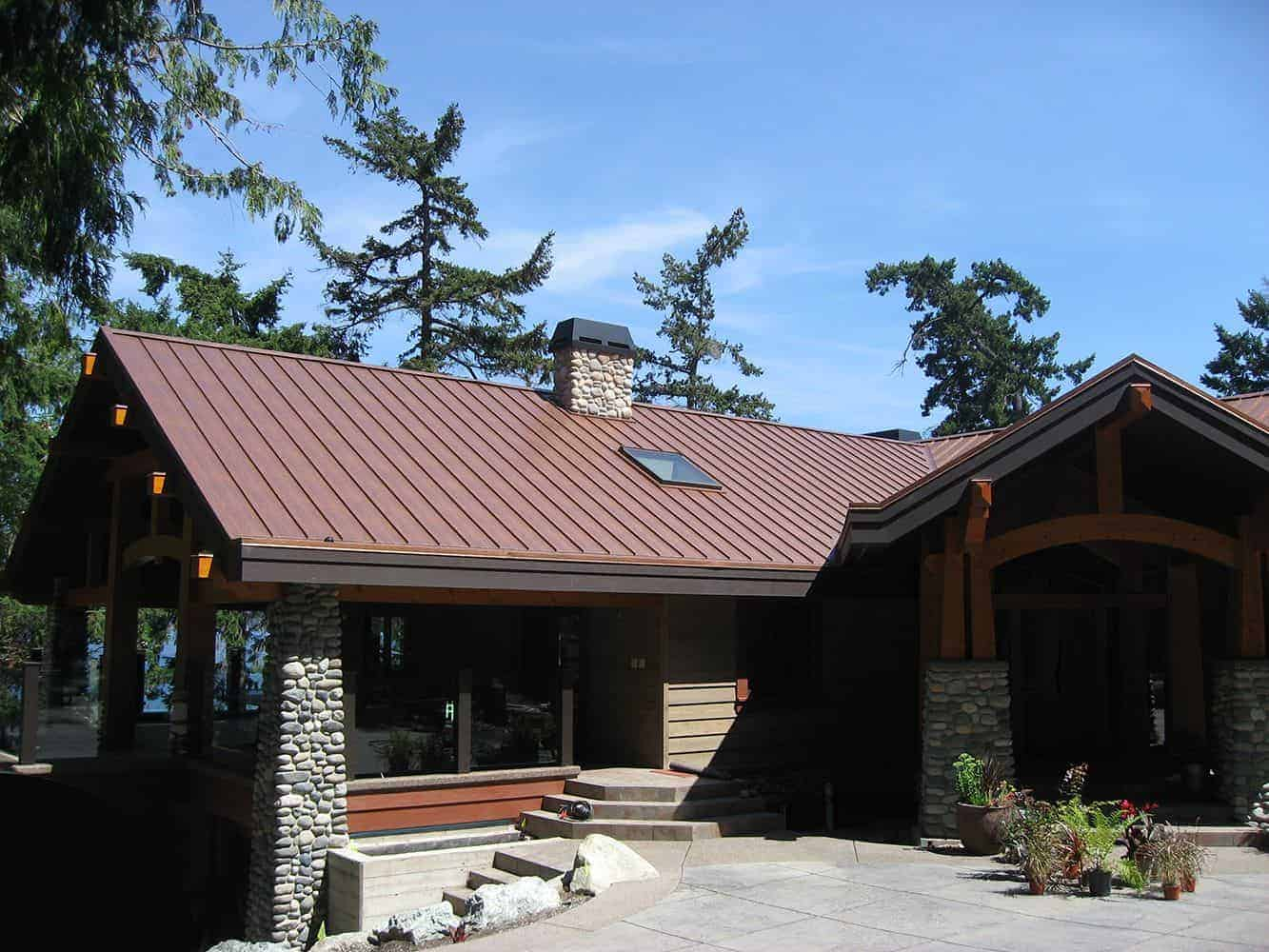 Interlock Standing Seam Roof Aged Copper Vancouver Island