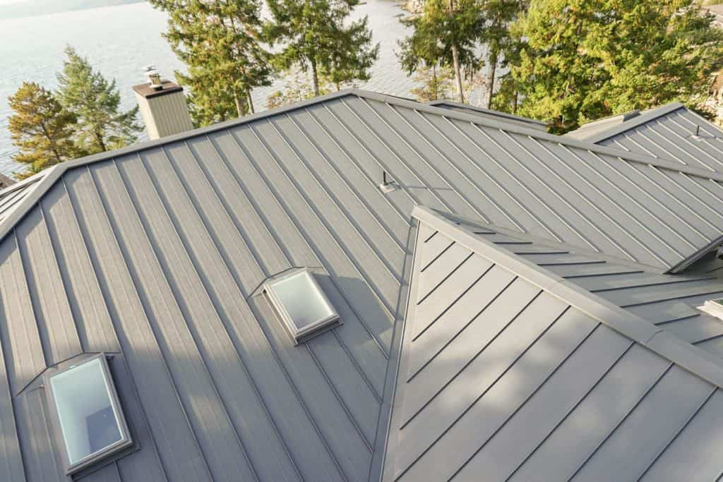 Interlock Standing Seam Roof Deep Charcoal Halfmoon Bay BC