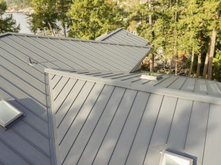 Interlock Standing Seam Roof Deep Charcoal Hip Valley Ridge Caps