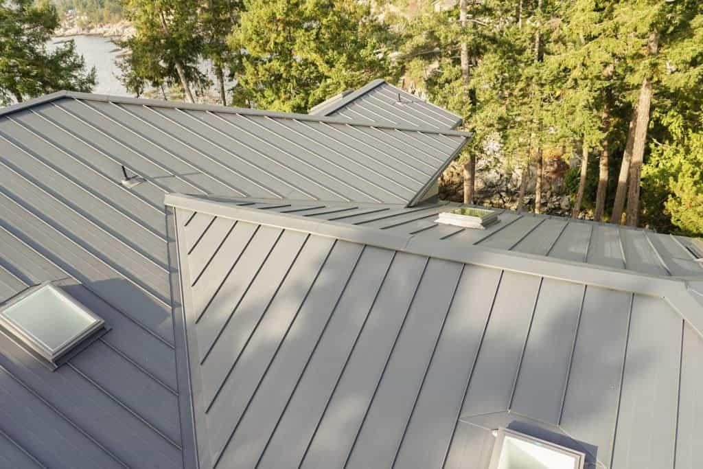 Interlock Standing Seam Roof Deep Charcoal Hip Valley Ridge Caps