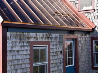 Interlock Standing Seam Roof Historic Wood Shake House