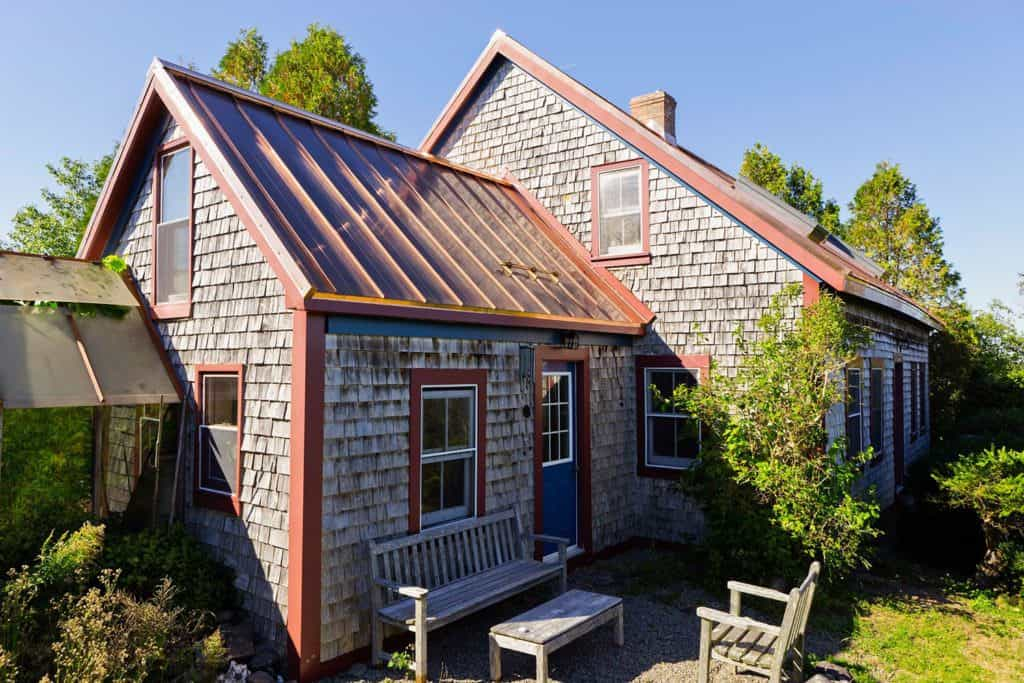 Interlock Standing Seam Roof Solid Copper Historic House
