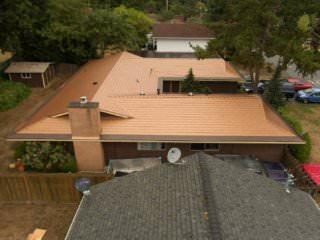 WAEV-17-022 Bellevue, WA 98008 USA Aged Copper Interlock Cedar Shingle Roof