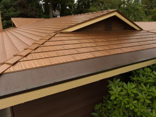 Bellevue Wa Aged Copper Cedar Shingles Interlock