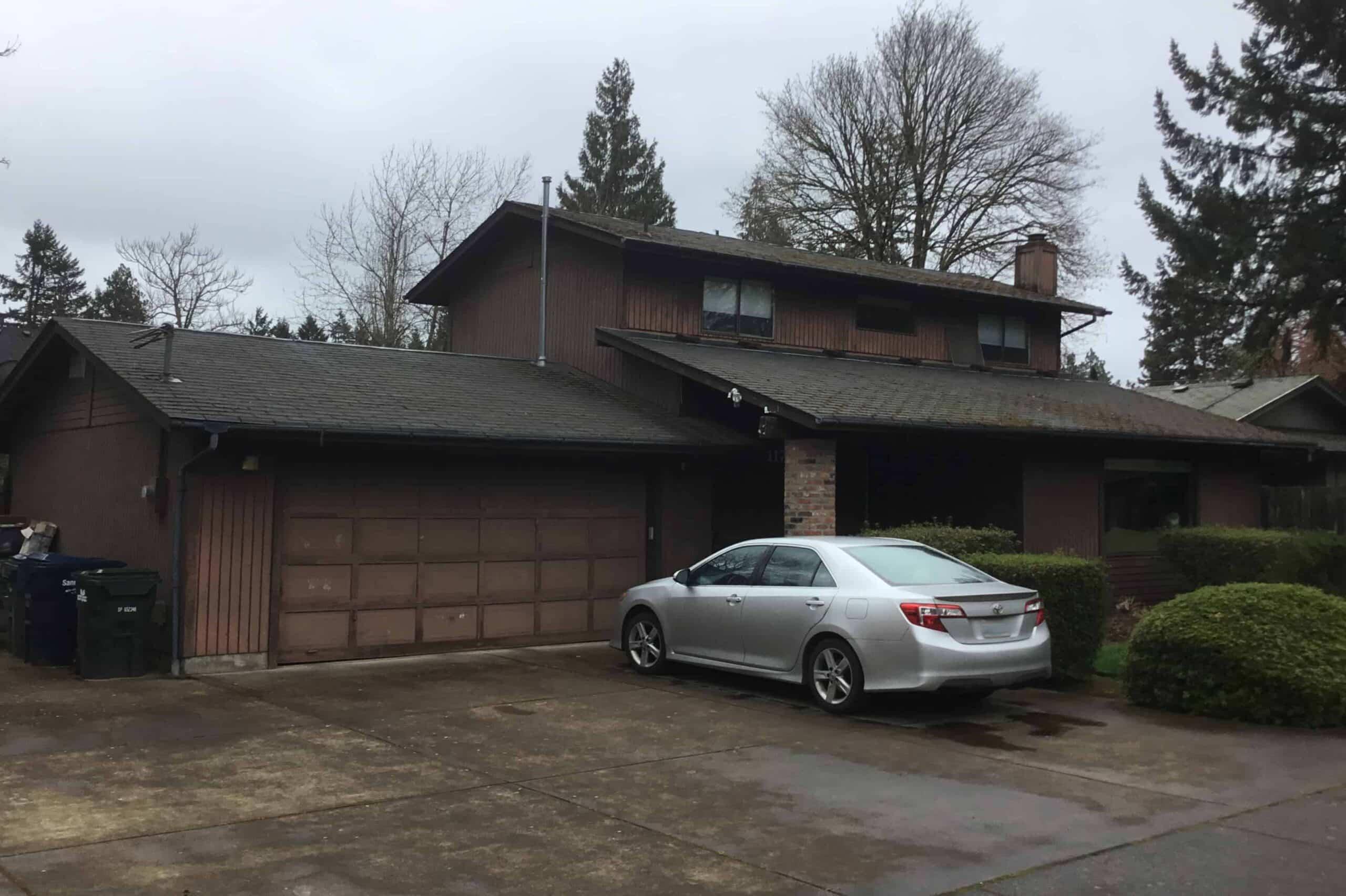 Eugene OR Asphalt Roof Side of the House