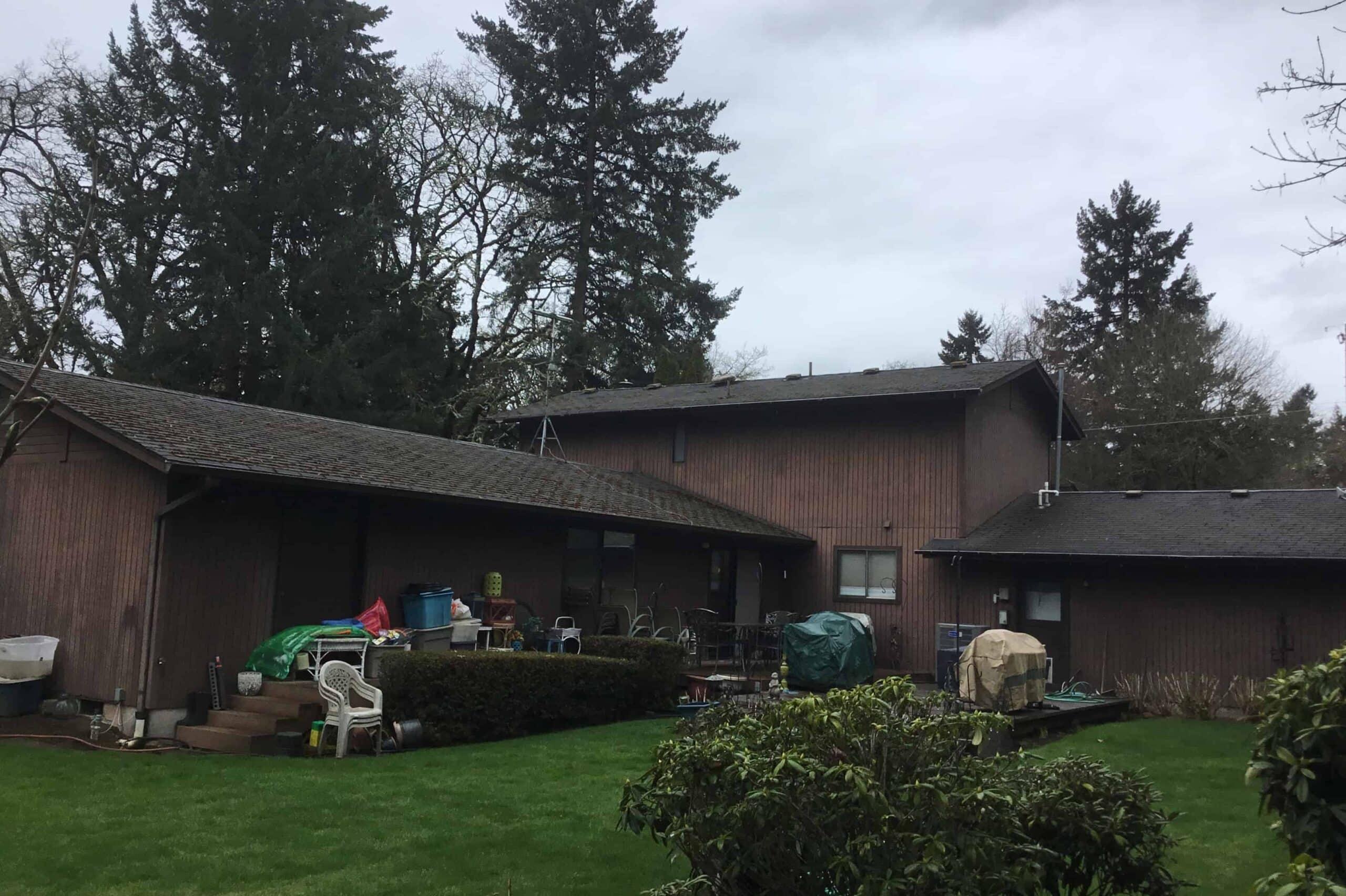 Eugene OR Asphalt Roof Backyard