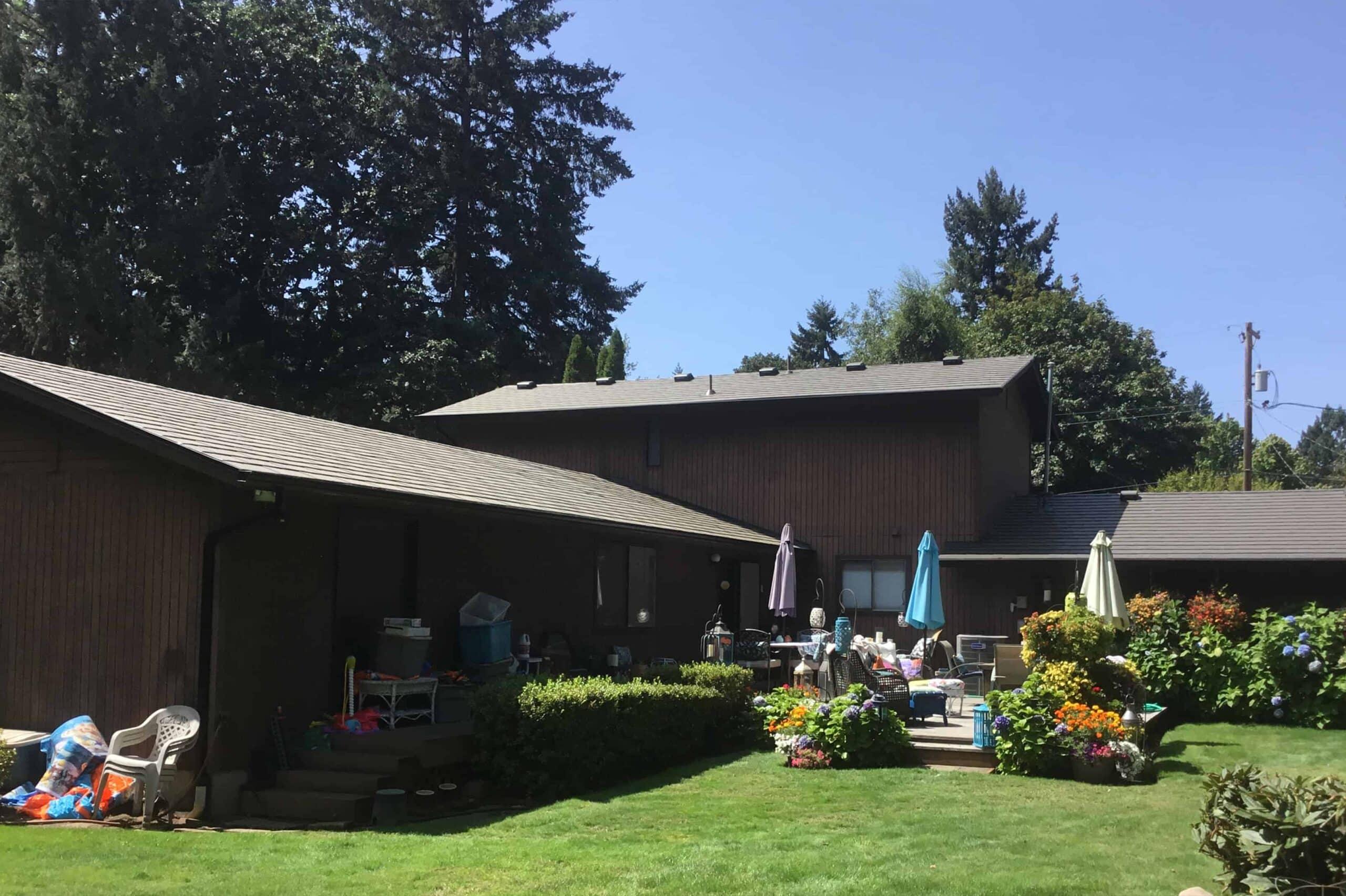 Eugene OR Metal Roof Backyard